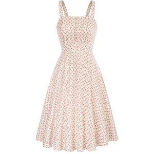 Belle Poque White Floral Retro Dress
